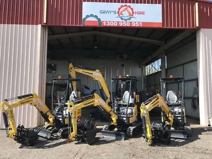 Excavator Dry Hire $250 per/day 1.7 Tonne Yanmar