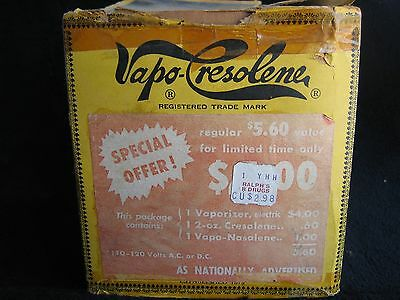 Rare  Vapo Cresolene Electric Vaporizer W Orig Box Chatham Nj Antique Medical Rx