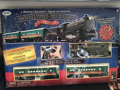 EzTec 29 Piece North Pole Express Christmas Train Set Battery Operated Toy NIB