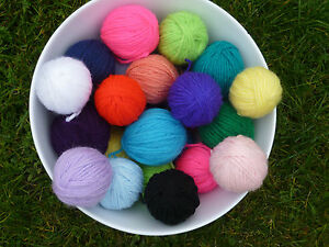 job lot dk oddment wool balls - ideal for projects/crafts/toys ect