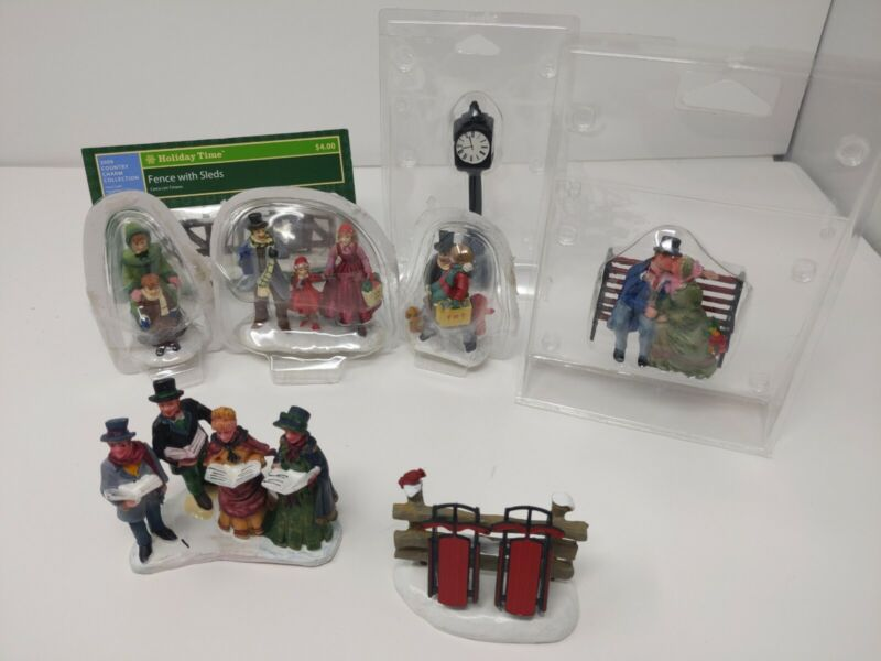Multiple Brand Lemax Christmas Village Collection Figurines Lot