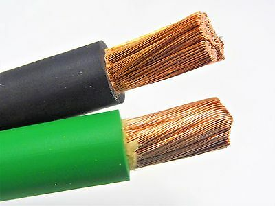 20 Ft 10 Awg Weldingbattery Cable 10 Black 10 Green 600v Made In Usa Copper