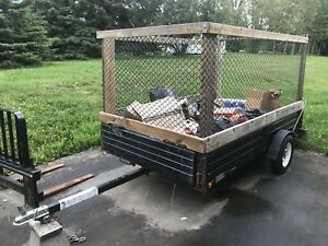 6' x 12' Utility Trailer With Laydown Ramp