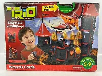 Trio Wizard's Castle Building Set Fisher-Price P6840 Mattel 2009 Incomplete