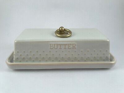 Better Homes & Gardens Ceramic Hobnail Covered Butter (Best White Porcelain Dishes)