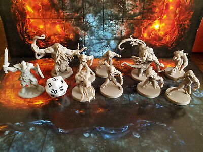Underdark Miniature Lot of  9 for Dungeons and Dragons 5e Rpg Dungeons And Dragons Dungeon