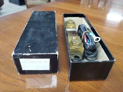 New Simpson Electric Shunt 200 Amp 50 Mv Tam Shunt Unused