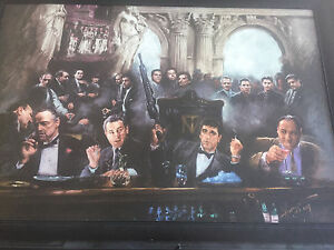 Selling framed mafia picture -34x24 -$75