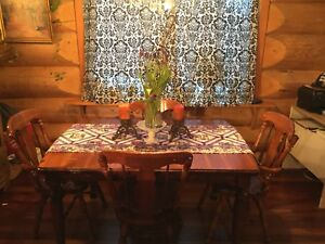 Reduced. Solid Wood Dining Table and 4 Chairs