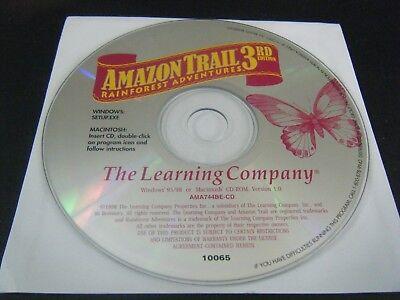 Amazon Trail 3rd Edition - Rainforest Adventures (PC & Mac, 1999) - Disc (Rainforest Adventure Game)