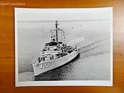 Official Navy Minesweeper Ocean Ship Photo 8X10 Mso 423 Uss Avenge