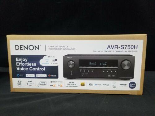Denon AVR-S750H 7.2 Channel 4K AV Dolby Atmos Audio Video Receiver New