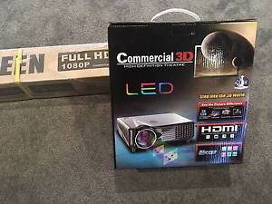 LED 3D Projector and Screen - Brand new in Box! Beaumaris Bayside Area Preview