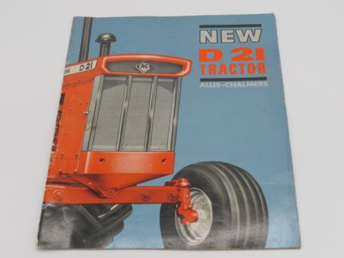 Vintage Allis Chalmers D21 D-21 Tractor Sales Catalog Brochure 28 pages Glossy!
