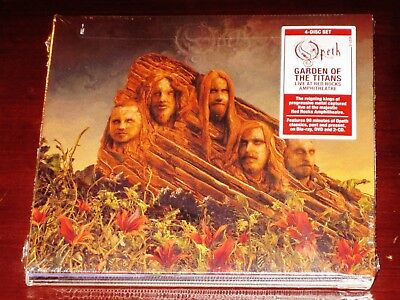 Live 2 Cd Set - Opeth: Garden Of The Titans Live 2 CD + DVD + BR 4-Disc Set 2018 USA Digipak NEW