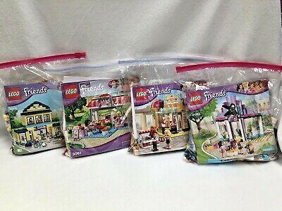 LEGO Friends Lot 41093, 41006, 3061, 41005 Hair Salon, Bakery, Cafe, High School