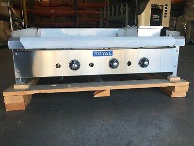 36 Commercial Thermostatic Griddle Royal Range Rtg-36 34 Griddle Plate