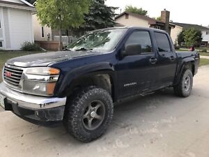 2004 GMC Canyon 4X4 big snow crushing tires safetied
