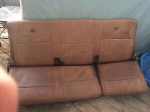 KING RANCH rear leather bench seats