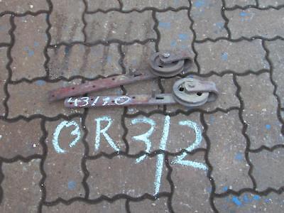 2 Rollen für Scheunentor Durchmesser 10cm Länge ca 43 cm rostig verbogen C3R3/2