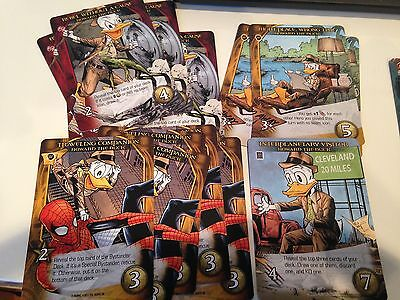 HOWARD THE DUCK Upper Deck Legendary Marvel 3D 14 card complete Playable Lot