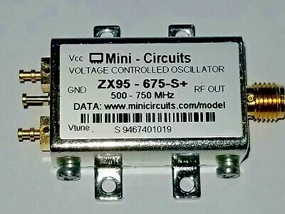 Mini-circuits Zx95-675-s Voltage Controlled Oscillator 500 - 750 Mhz Vco