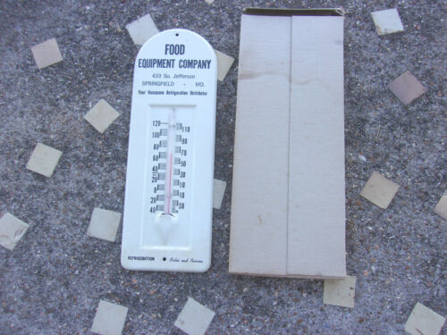 VINTAGE Old 1950s Advertising THERMOMETER Food Equipment Co Springfield Mo.