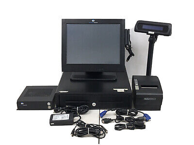 Harbor Touch Pos Touchscreen System Terminal Cash Drawer Printer Display 7704