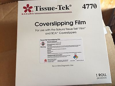 Sakura Tissue Tek Slide Coverslipping Film 4770 - 5 Rolls Lowered Price