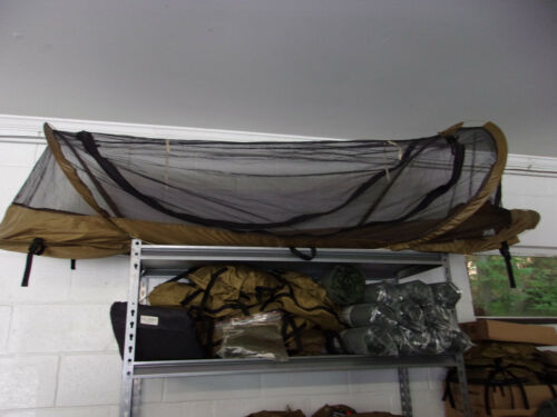New Catoma  Shelters Pop-Up Bed Net System tan coyote  - U.S. MILITARY SURPLUS