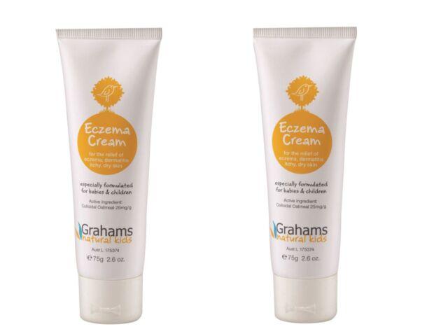 2 x 75g Grahams Natural Kids Eczema Cream ( Formulated for Babies & Children )