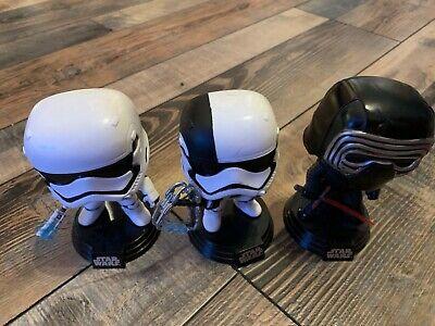 Funko Pop Vinyl Star Wars Force Awakens Lot of 3 Figures Kylo Ren Stormtroopers