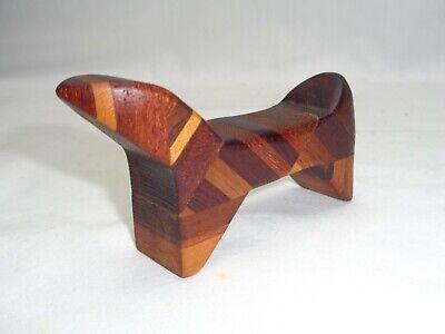 Vtg Mini Mixed Wood Maybe Teak Abstract Animal Mcm Danish Modern Bojesen Era