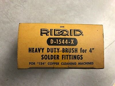 Ridgid 4 Fitting Brush D-1544-x 42310 For 124 Copper Cleaning Machine