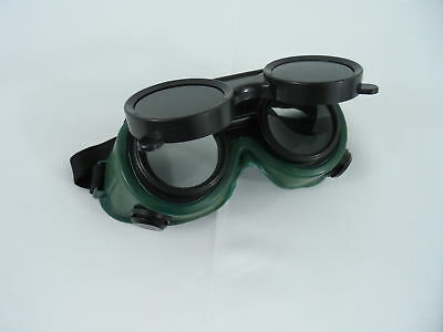 Two Pair New Welding Cutting Welders Goggles Glasses Flip Up Dark Green Lenses