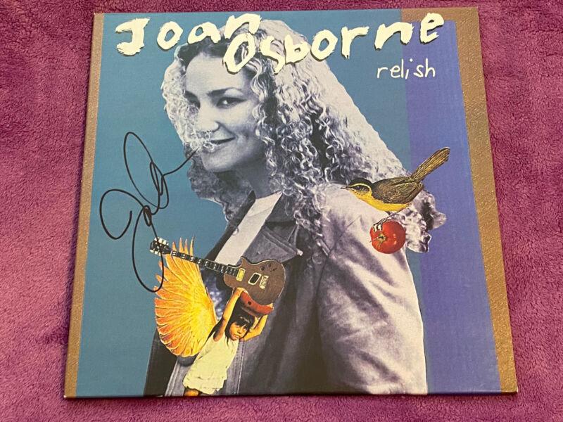 JOAN OSBORNE signed auto RELISH Vinyl  LP One Of Us