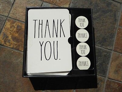 Rae Dunn Thank You Notes Note Cards Large Black Letters NIP ](Large Thank You Cards)