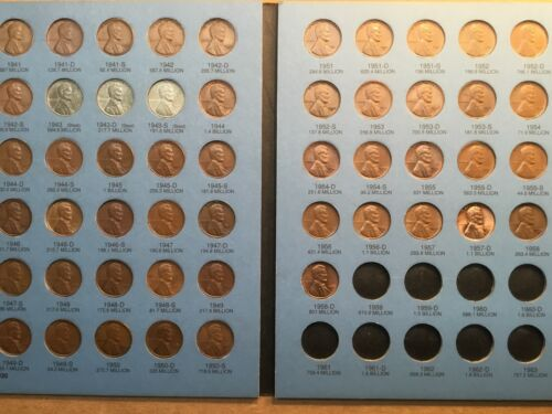 Lincoln Wheat Penny Cent 1941-1958 ALL HIGH GRADES Complete Collection of P D S