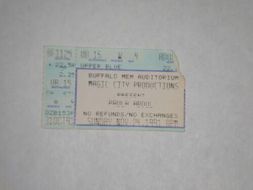 Paula Abdul Concert Ticket Stub-1991-Buffalo Memorial Auditorium-Buffalo,NY