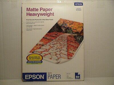 EPSON MATTE HEAVYWEIGHT PHOTO PAPER 8.5
