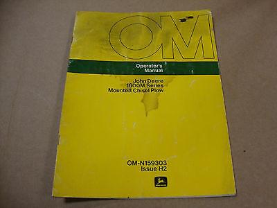 John Deere Operators Manual For 1600m Series Mounted Chisel Plow