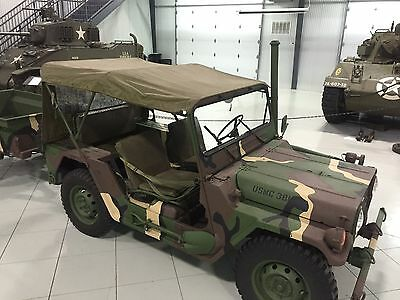 Jeep M151 M151A1 M151A2 MUTT Top Cover Vehicular Vinyl OD Green NOS RARE for sale  College Station