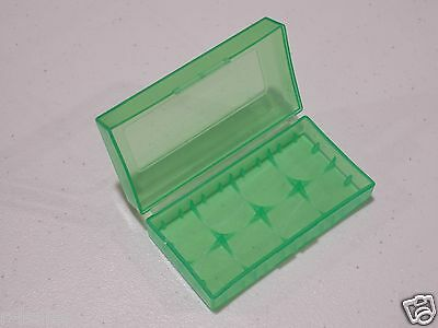 10 pcs GREEN PLASTIC STORAGE CASE HOLDER BOX For 18650 16340 CR 123A BATTERY