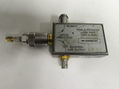 Wiltron 97a50 Swr Autotester 10mhz To 18ghz