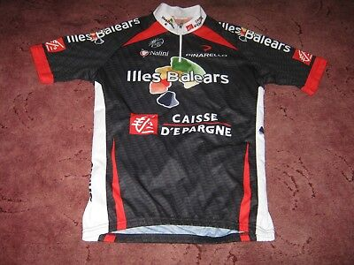 Illes Balears Caisse d Epargne Pinarello Nalini Italian cycling jersey  Sz   4  822e0d6f1