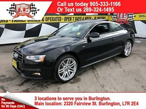 2016 Audi A5 Progressive S-LINE, Manual, Navi, Leather, AWD