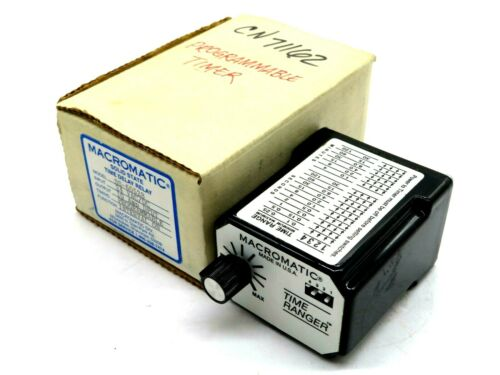 NEW MACROMATIC SS-60528 TIME DELAY RELAY SS60528
