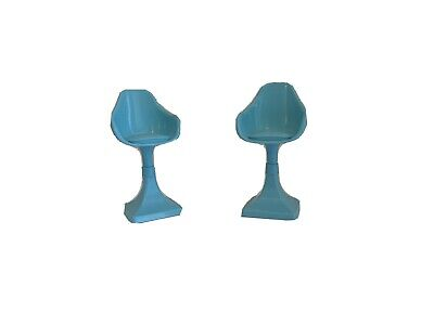 2015 Barbie Dream House Blue Chair Replacement Part Dollhouse Stool SET OF 2