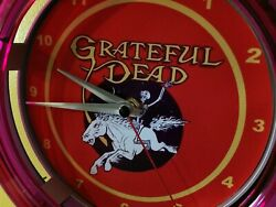 Grateful Dead Rock Concert Deadhead Bar Man Cave Neon Wall Clock Sign