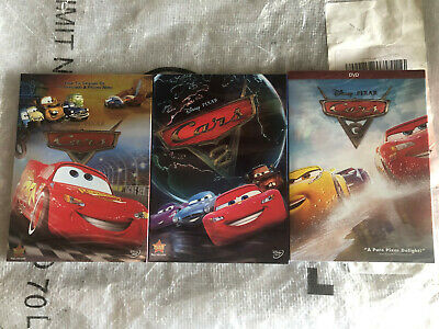 Cars 1-3 Trilogy Disney  Pixar Movie Bundle DVD New & Sealed Us Seller New!